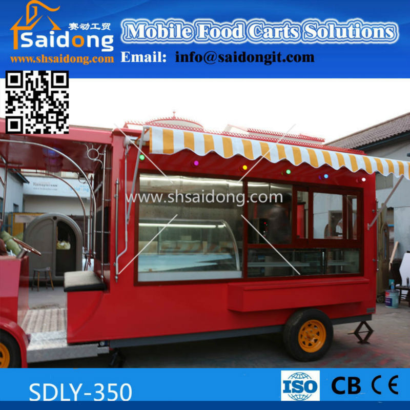 Best Quality vintage food cart-electric food truck -vintage ice cream cart for sale
