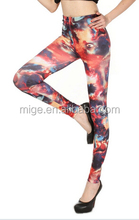 The new European and American Star Universe Planet milk silk printing Leggings women sexy jeans leggings tights GS1008-1