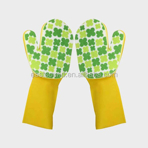 new latex working gloves with scouring pad