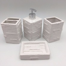 New Creative design no moq retail price of bathroom accessories Ceramic bathroom set