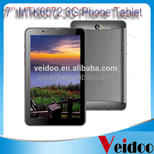 7 inch tablet MTK 6572 3G Dual Core phone call 512MB 4GB Dual SIM Dual Cameras Bluetooth FM Radio