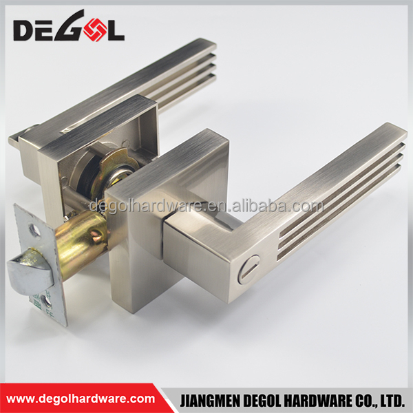 Hot sale zinc alloy heavy duty bathroom privacy lever handle keyless door lock