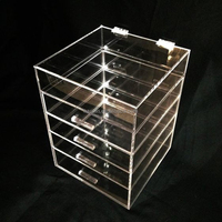 Aolan Acrylic Cosmetic storage/ Makeup Organizer 5 Drawers with handle