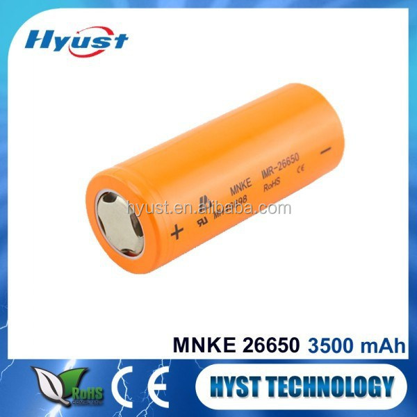 e-cig mod mnke 26650 battery 26650 mnke li mn battery 3500mah 35a battery - Free Samples