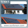 Tile roof solar energy advanced mounting