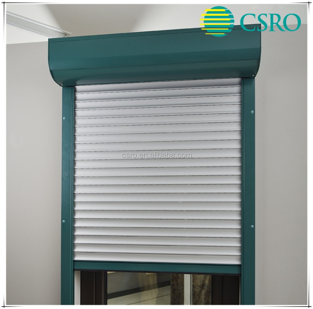 Aluminum remote control roller shutter with 40mm bars