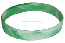 Swirl and debossed customer logo Cheapest silicone wristband,silicone bracelet