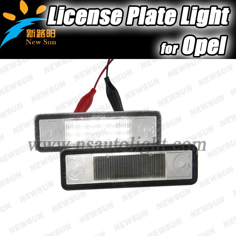 LED License Plate Lamp for Astra F/Estate/Astra G/Corsa B/Omega A B/Vectra B/ Zafira A car Led Number Plate light bulb for OPEL
