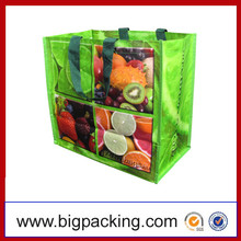 Wholesale Price Custom Printed Eco Friendly Recycle Reusable PP Laminated Woven Tote Shopping Bags
