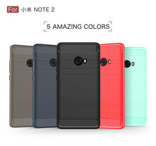 1.5mm thickness carbon fiber case for Xiaomi Note 2 brushed TPU case