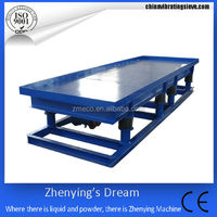 high efficiency small shaker cement vibrating table