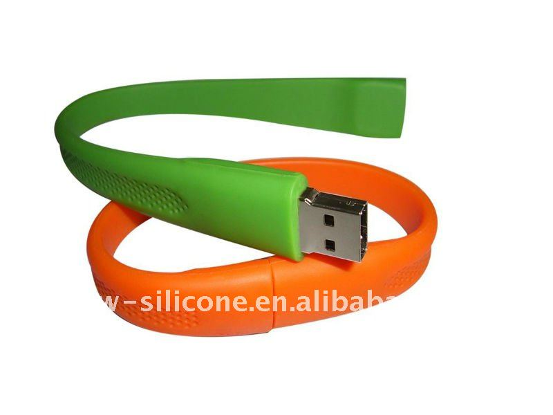 Cheap item to sell silicone wristband usb flash drive
