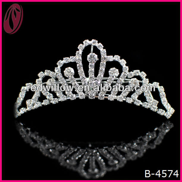 Wholesale Rhinestone Clear Pageant Tiara Beauty Crown For Princess