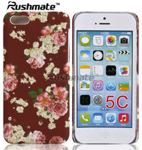 Flower Design Cellphone Back Cover For iphone 5C