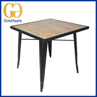 Modern cheap commercial metal marble-imitated coffee bar table