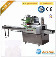 Full stainless Sami-automatic film sealing wrapping meat packing machine