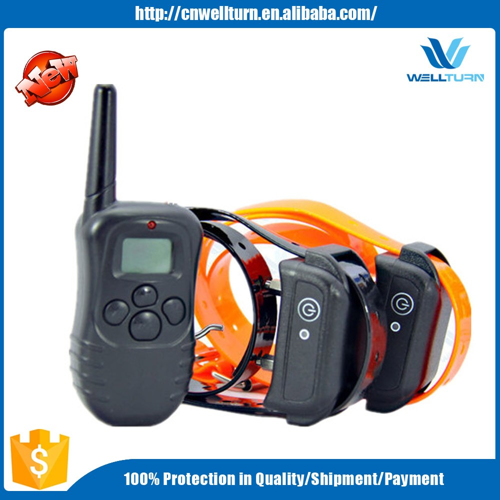 330 Yard Rechargeable LCD Shock & Vibrate Remote Dog Training Collar for 2 Dog
