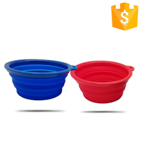 Unbreakable Portable Camping Traveling collapsible silicone bowl For Camping