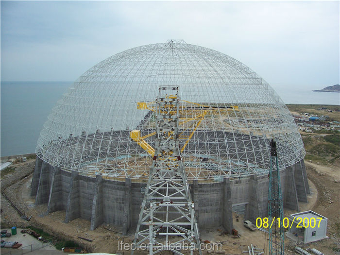 Prefab Large Span Dome Steel Frame Building