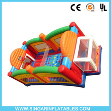 Inflatable bouncy castle with ball pit and twister game
