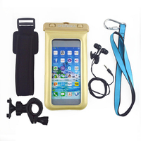 PVC+ABS Waterproof Bag for Samsung Galaxy S3 i9300 with Strap+Armband