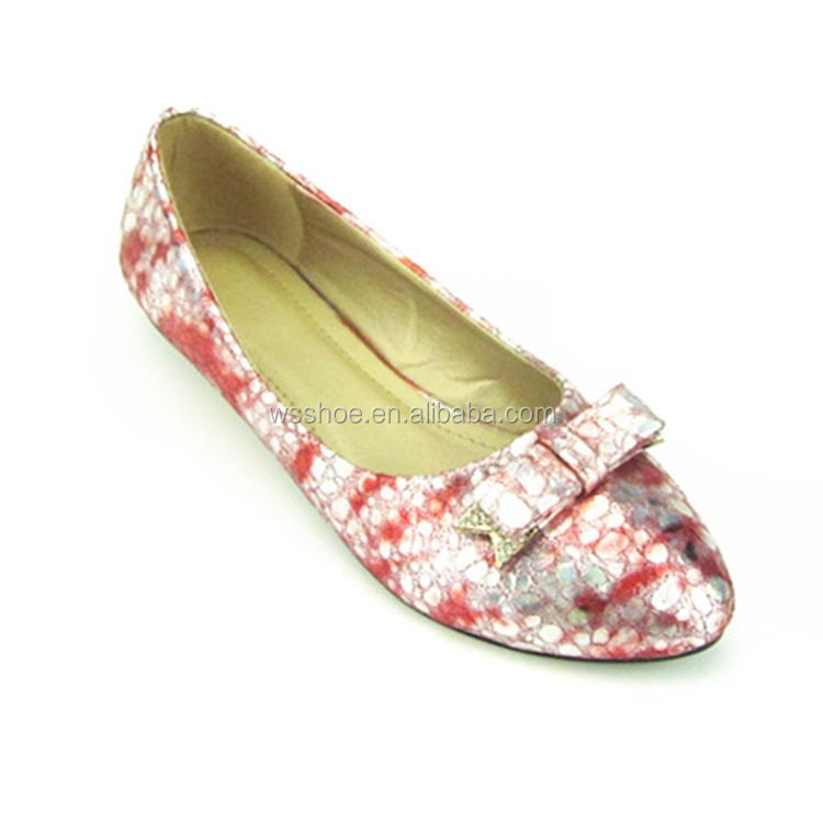 Mix color bowtie design bright leather girl and lady casual shoes