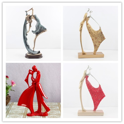 New Arrival Resin Craft Loving Holding Hands Wedding Figurines