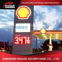 Gas station petrol stations with price display led pylon sign