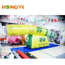 Customize inflatable column advertising LED lighting green round pillar for decorative