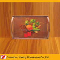 "14""X9"" YaXing melamine Handled Tray"