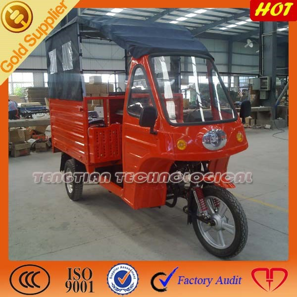 adult electric motorcycle closed tuk tuk for sale bangkok/three wheel cargo tricycle