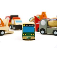 FQ brand wholesale hot selling new style educational colorful mini kids wooden model car