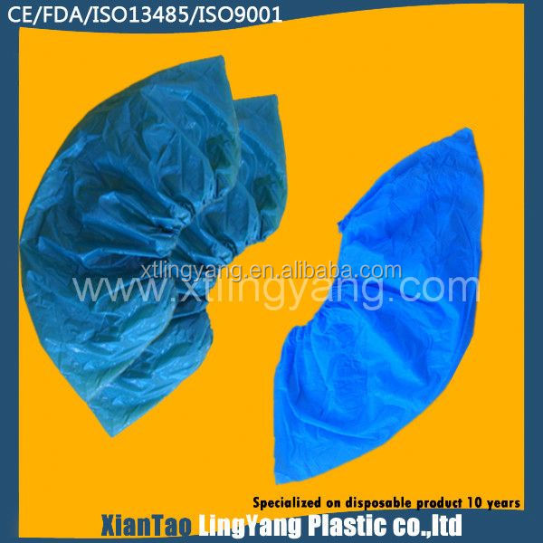 Blue Anti-skid Shoe Cover/Disposable Shoe Covers/Transparent Overshoes