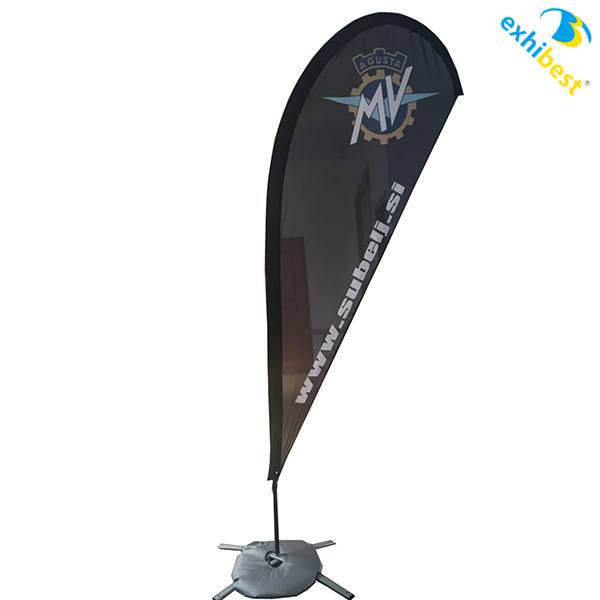 2017 Fiberglass pole flying banner/ Promotion Feather Flag and teardrop banner fly flags