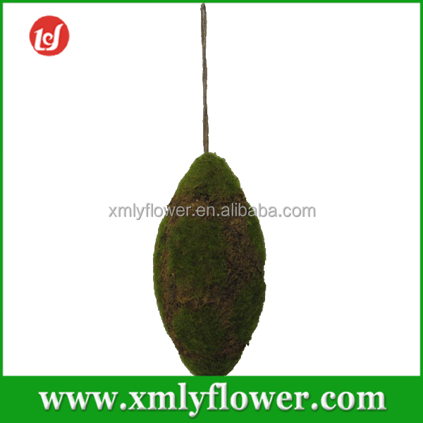 Green Artificial Waterweeds Moss Both Sharp Ends Ball for Christmas