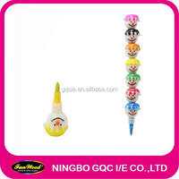 Mulit color crayon, shaped stacker crayon, accept customized designs