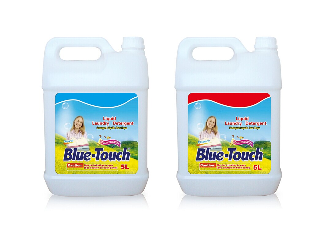 Eco-friendly remove tough stain Bulk liquid laundry detergent with flowery perfume 5L/20L