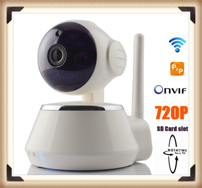 h.264 pan/tilt diy home security wifi ip camera wireless P2P with 2 warranty