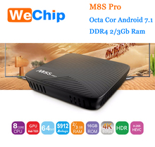 M8S Pro Android 7.1 TV Box 3GB DDR4 RAM/16GB EMMC Amlogic S912 Octa Core Streaming Media Player 2.4G/5G Wifi Bluetooth 4.1+HS