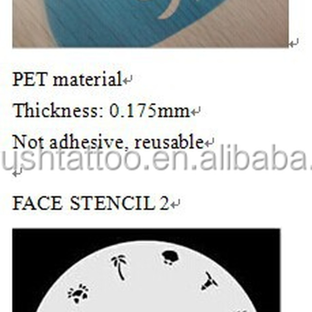 reusable airbrush face paint stencil