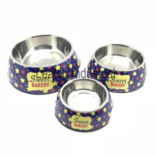 Simple Designed Stars Pattern Dog&Cat Pet Bowl