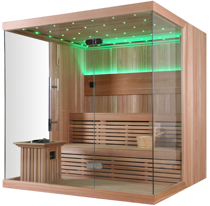 6 person finland wood built monalisa home sauna for sale - Saunas en casa ...