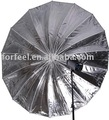 105cm Black & Silver 16 Rib Parabolic Umbrellas With Fibre Rods photographic equipment