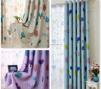 Tree printing shower curtain 100% polyester fabric