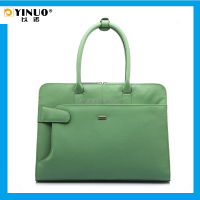YINUO Genuine Leather Shoulder Laptop Bag for Women Notebook Bag with 13/13.3 Inch