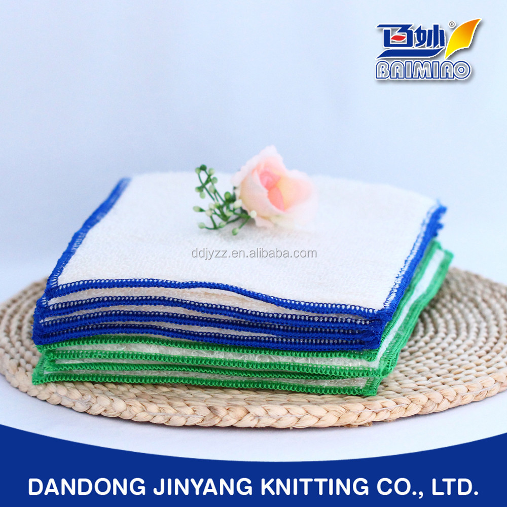plant fiber colorful dish washing customizing cloth towel