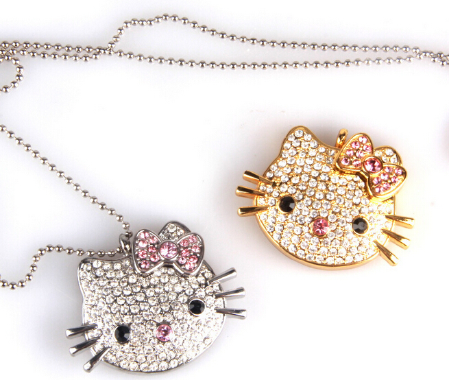 Gadget Hello Kitty Cat Shape Jewelry USB Flash Memory Drive 8GB for gift