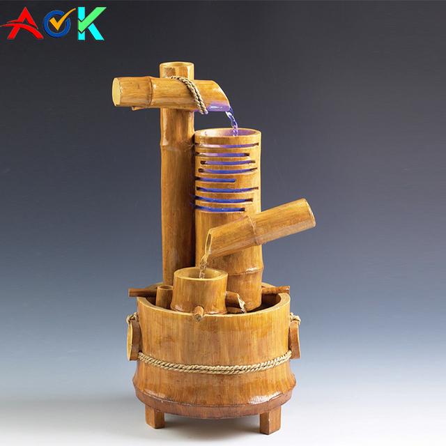 Bamboo indoor water fountainyuanwenjun indoor fengshui tabletop waterfall resin fountain bamboo water fountain workwithnaturefo
