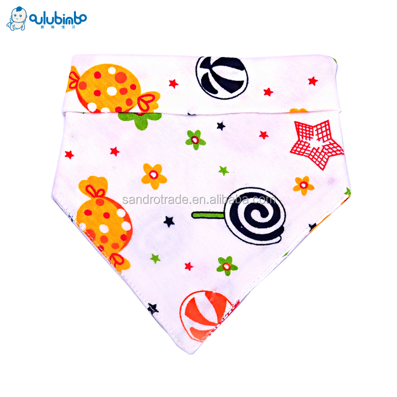 Custom Baby 100% Cotton Eight-square 360 Degree Bibs