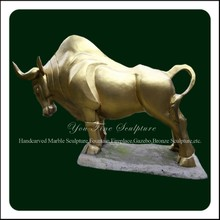 Wall Street Cast Bronze Bull Sculpture